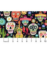 PD's August Wren Collection Viva Mexico!, Day of the Dead in Multi, Dinner Napkin