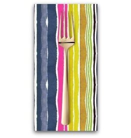 PD's August Wren Collection Viva Mexico!, Water Stripe in Multi, Dinner Napkin