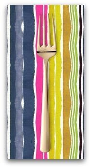 PD's August Wren Collection Viva Mexico!, Water Stripe in Multi, Dinner Napkin