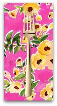 PD's August Wren Collection Viva Mexico!, Flower Wall in Multi, Dinner Napkin