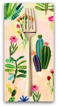 PD's August Wren Collection Viva Mexico!, Cacti in Multi, Dinner Napkin