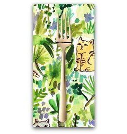 PD's August Wren Collection Viva Mexico!, Jungle Cats in Multi, Dinner Napkin