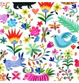 August Wren Viva Mexico!, Ole in White, Fabric Half-Yards STELLA-DAW1500