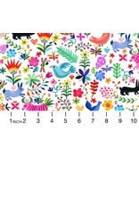 August Wren Viva Mexico!, Ole in White, Fabric Half-Yards STELLA-DAW1500