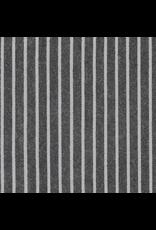 Robert Kaufman Yarn Dyed Cotton Flannel, Tamarack Stripes Flannel in Black, Fabric Half-Yards SRKF-18221-2