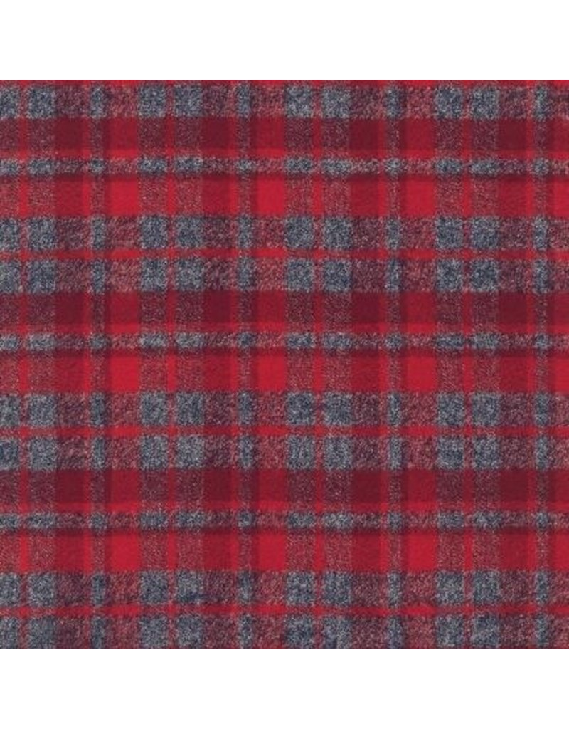 Robert Kaufman Yarn Dyed Cotton Flannel, Mammoth Flannel in Red, Fabric Half-Yards SRKF-13927-3
