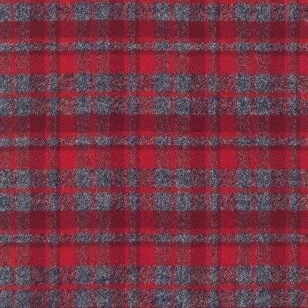 Robert Kaufman Yarn Dyed Cotton Flannel, Mammoth Flannel in Red, Fabric Half-Yards SRKF-13927-3