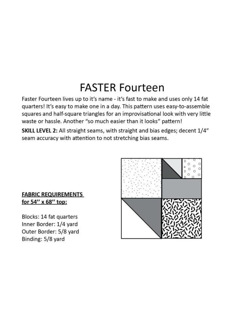Hunter's Design Studio Hunter's Design Studio's Faster Fourteen Quilt Pattern