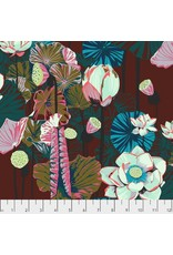 PD's Anna Maria Horner Collection One Mile Radiant, Lotus in Garnet, Dinner Napkin