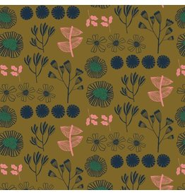 Bookhou After the Rain, Inventory in Gold, Fabric Half-Yards PWBH009