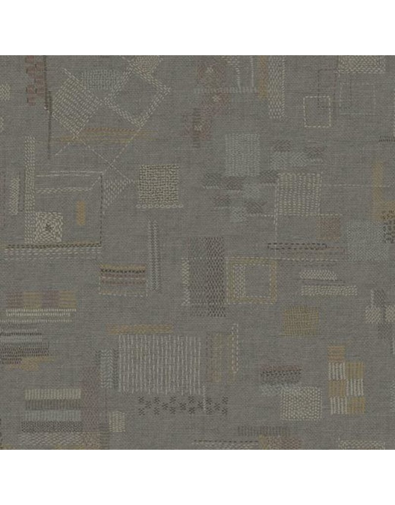 Marcus Fabrics Faded and Stitched, Stitched in Taupe, Fabric Half-Yards 0765-0145