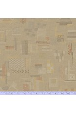PD's Marcus Fabrics Collection Faded and Stitched, Stitched in Tan, Dinner Napkin
