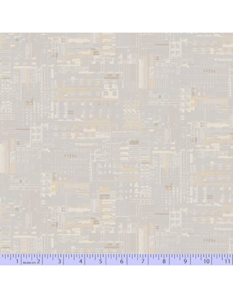 PD's Marcus Fabrics Collection Faded and Stitched, Mainframe in Bone, Dinner Napkin