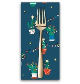 Christmas Collection ON SALE-Fa La La Llama, Holiday Cacti in Orion, Dinner Napkin