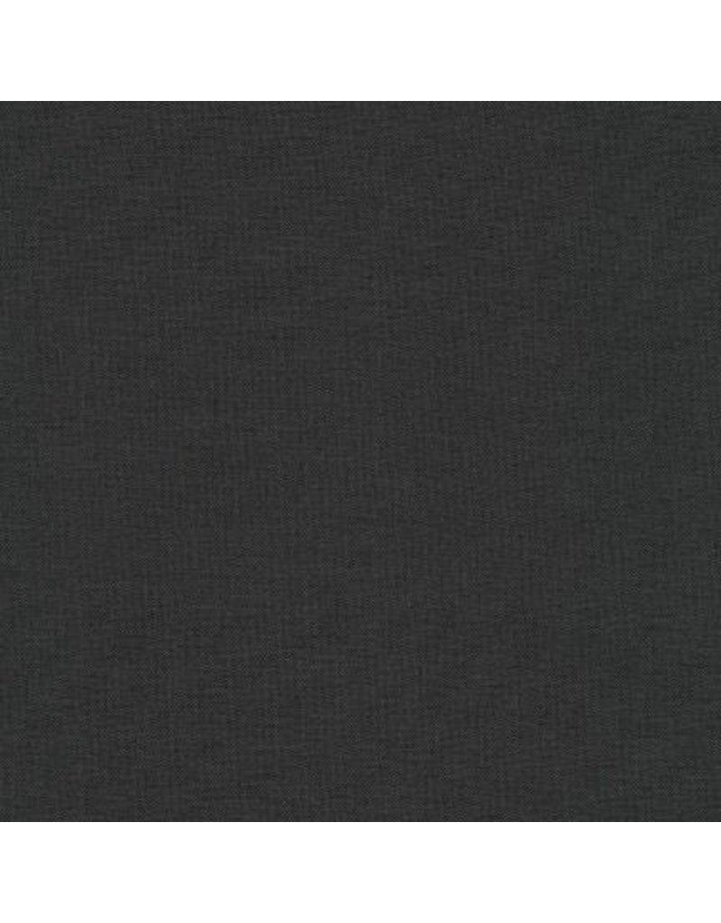Robert Kaufman Kona Cotton in Charcoal, Fabric Half-Yards K001-1071