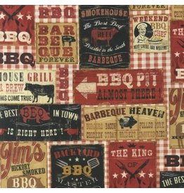 Robert Kaufman Cheers, BBQ in Spice, Fabric Half-Yards APJ-13283-163