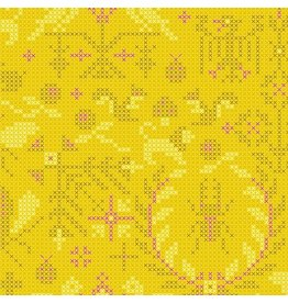 Alison Glass Sun Print 2020, Menagerie in Pencil, Fabric Half-Yards A-9387-Y