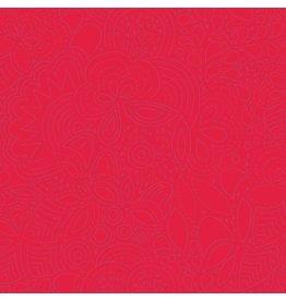 Alison Glass Sun Print 2020, Stitched in Poppy, Fabric Half-Yards A-8450-R2