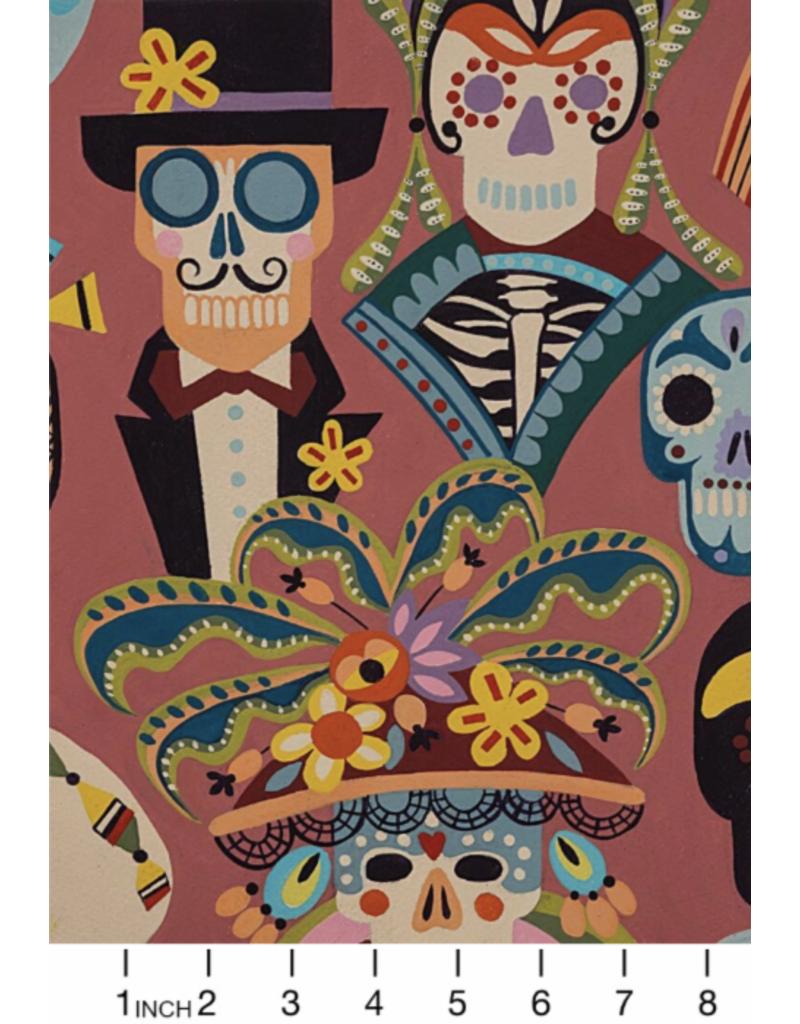PD's Alexander Henry Collection Folklorico, Carita Calaveras in Spice, Dinner Napkin