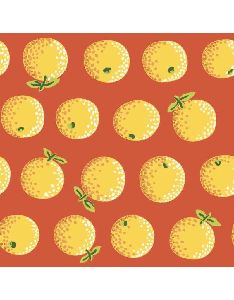 Kaffe Fassett Kaffe Collective 2020, Oranges in Yellow, Fabric Half-Yards  PWGP177