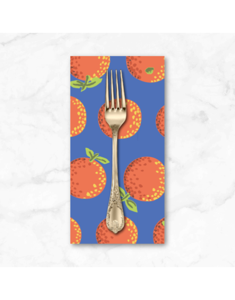PD's Kaffe Fassett Collection Kaffe Collective 2020, Oranges in Orange, Dinner Napkin
