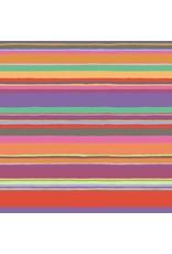 Kaffe Fassett Kaffe Collective 2020, Promenade Stripe in Hot, Fabric Half-Yards  PWGP178