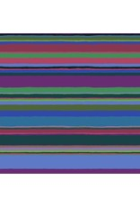 "Kaffe Fassett Kaffe Collective 2020, Promenade Stripe in Cold, Fabric Half-Yards  PWGP178 (ONE 16"" CUT REMAINING)"