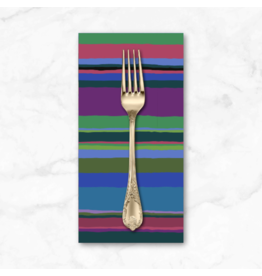PD's Kaffe Fassett Collection Kaffe Collective 2020, Promenade Stripe in Cold, Dinner Napkin