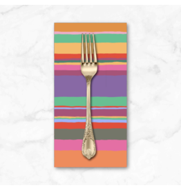 PD's Kaffe Fassett Collection Kaffe Collective 2020, Promenade Stripe in Hot, Dinner Napkin