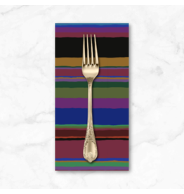 PD's Kaffe Fassett Collection Kaffe Collective 2020, Promenade Stripe in Dark, Dinner Napkin