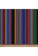 PD's Kaffe Fassett Collection Kaffe Collective 2020, Promenade Stripe in Dark, Dinner Napkin