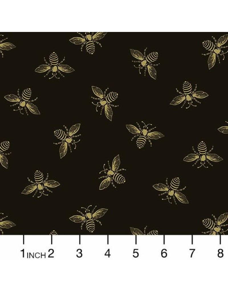 PD's Andover Collection Beehive, Bees in Black, Dinner Napkin
