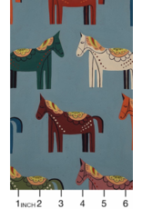 PD's Alexander Henry Collection Folklorico, Carita Caballo in Chambray, Dinner Napkin