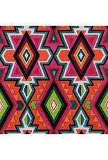 Alexander Henry Fabrics Folklorico, Dulce Eye Dazzler Caballo in Persimmon, Fabric Half-Yards 8813C