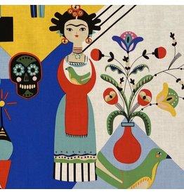 Alexander Henry Fabrics Folklorico, Frida Carita in Brite, Fabric Half-Yards 8808A