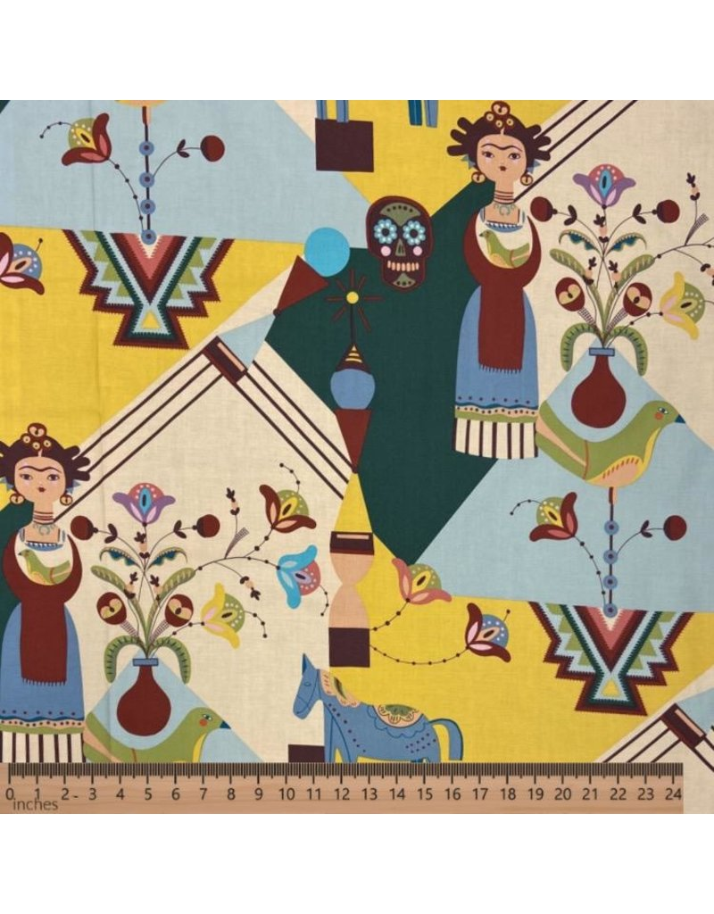 PD's Alexander Henry Collection Folklorico, Frida Carita in Spice, Dinner Napkin