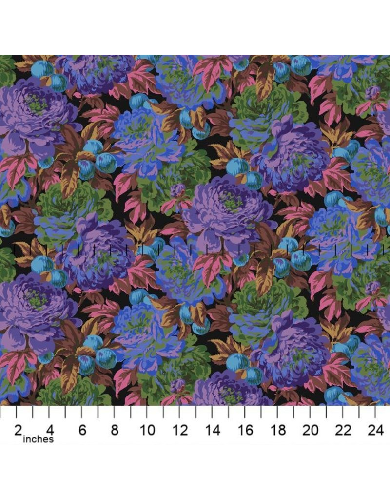 PD's Kaffe Fassett Collection Kaffe Collective 2020, Luscious in Black, Dinner Napkin