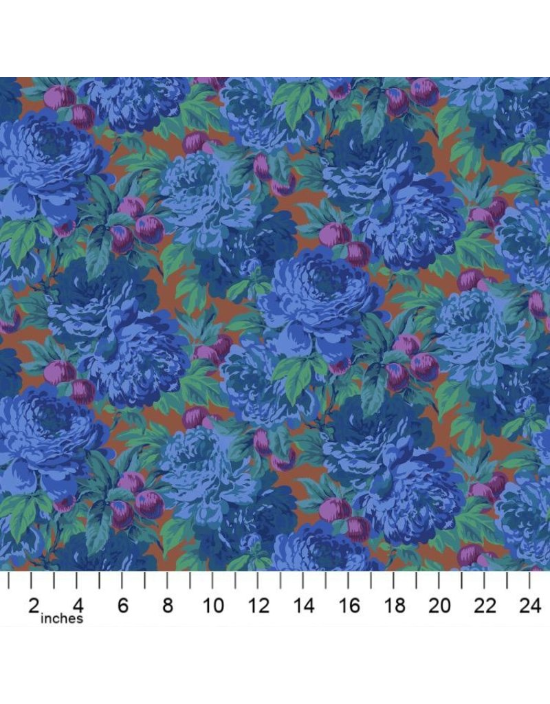 Philip Jacobs Kaffe Collective 2020, Luscious in Blue, Fabric Half-Yards  PWPJ011