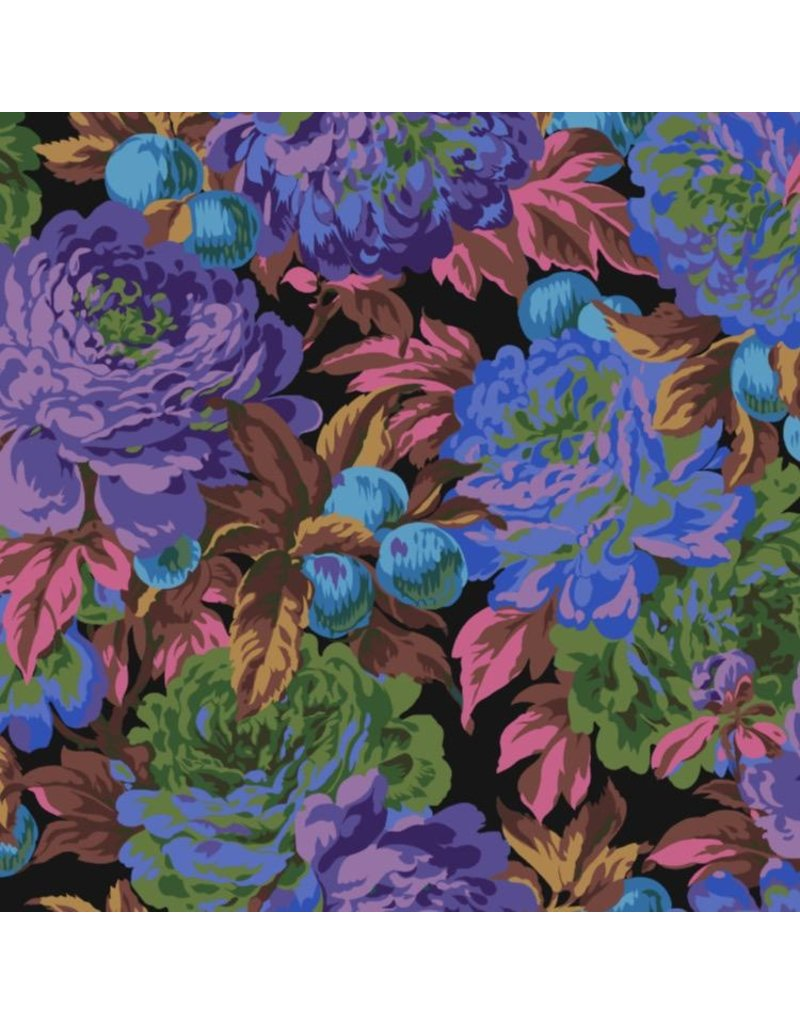 Philip Jacobs Kaffe Collective 2020, Luscious in Black, Fabric Half-Yards  PWPJ011