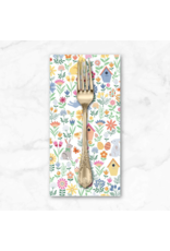 PD's Andover Collection Spring, Easter Allover in White, Dinner Napkin