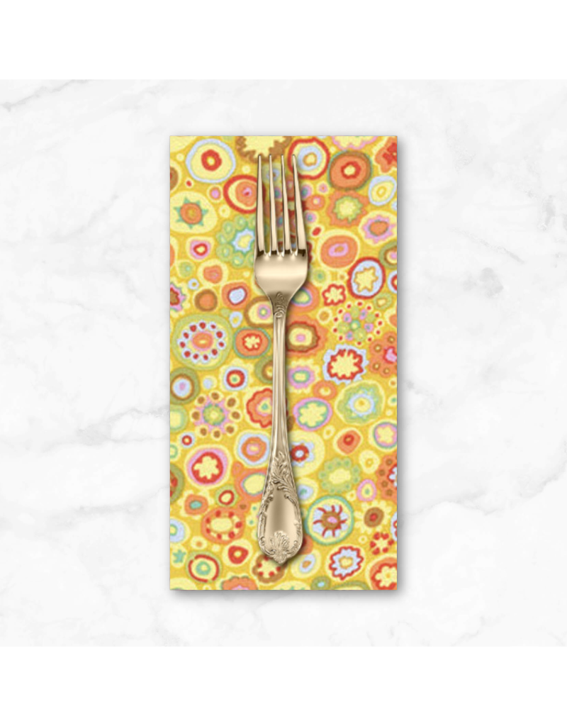 PD's Kaffe Fassett Collection Kaffe Fassett Classics, Paperweight in Yellow, Dinner Napkin