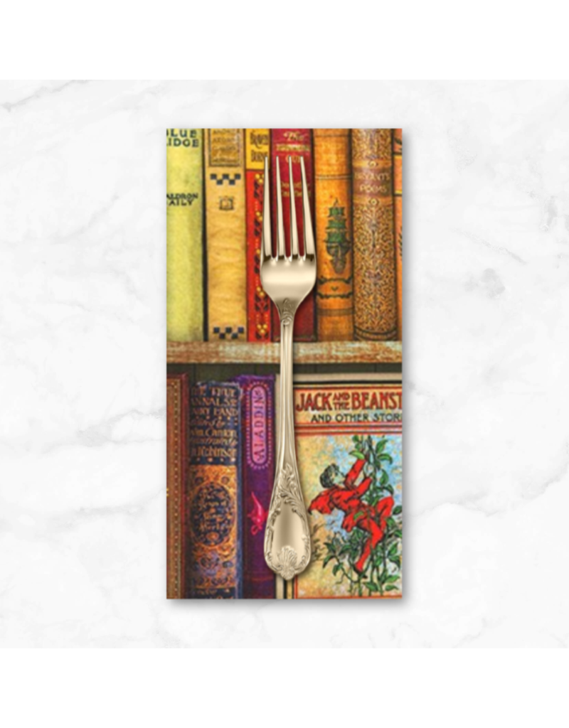 PD's Robert Kaufman Collection Library of Rarities, Favorite Books in Antique, Dinner Napkin