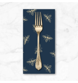 PD's Andover Collection Beehive, Bees in Navy Blue, Dinner Napkin