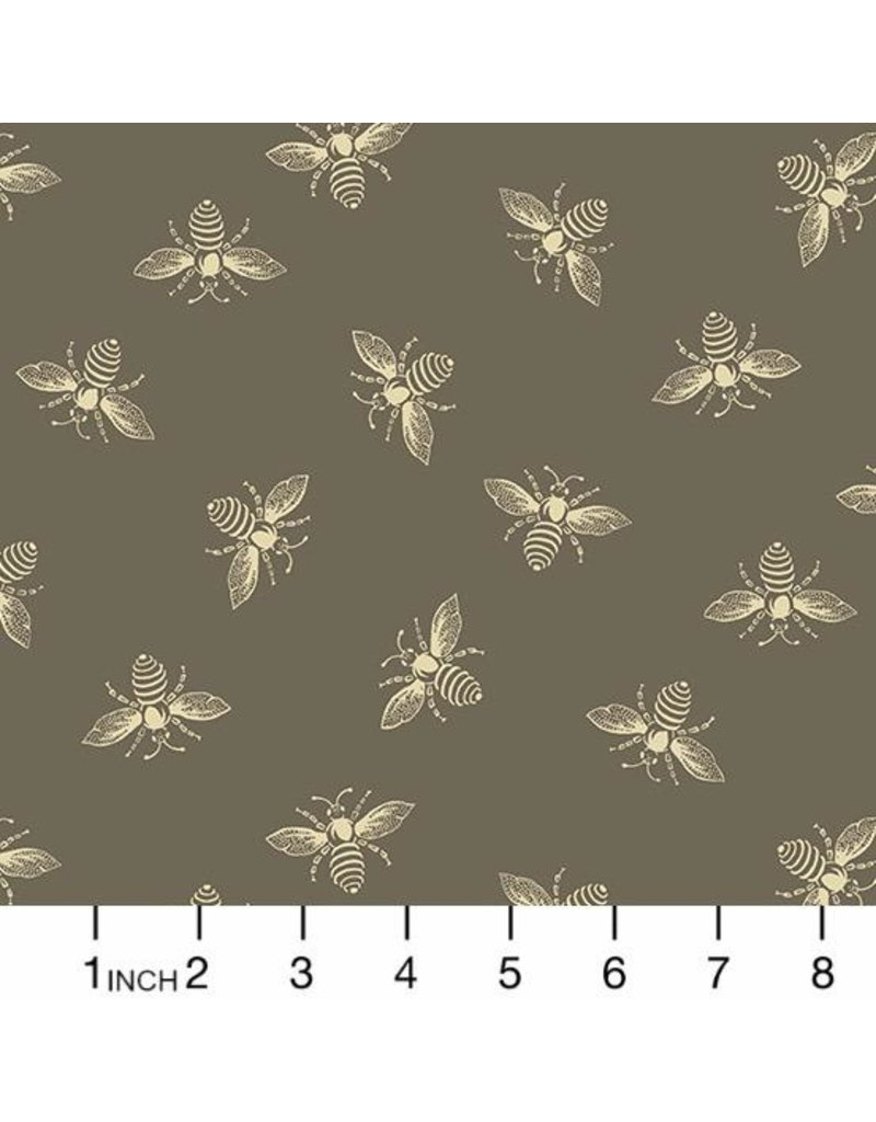 PD's Andover Collection Beehive, Bees in Taupe, Dinner Napkin