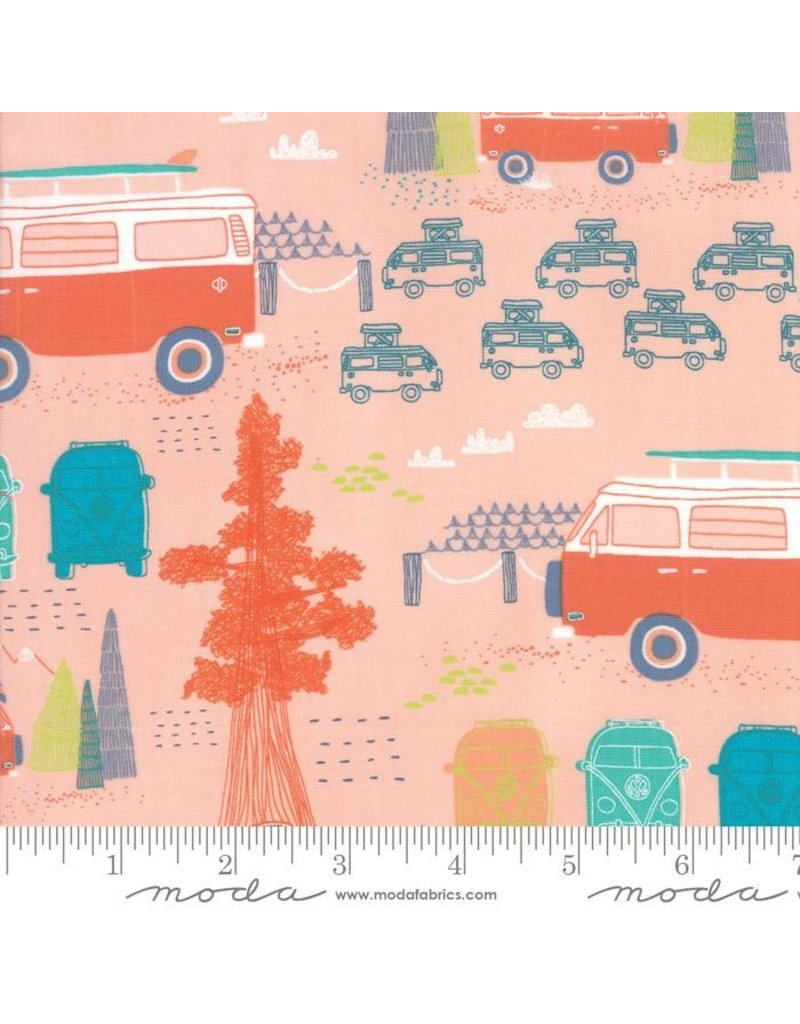 Moda Pacific Wanderings, Camping in Coral, Fabric Half-Yards 13322 16