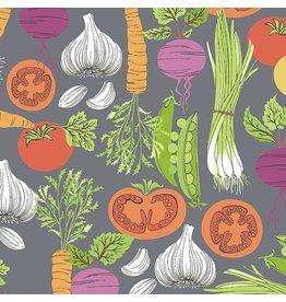 Andover Fabrics Farm to Fabric, Smorgasbord in Grey, Fabric Half-Yards A-9390-C