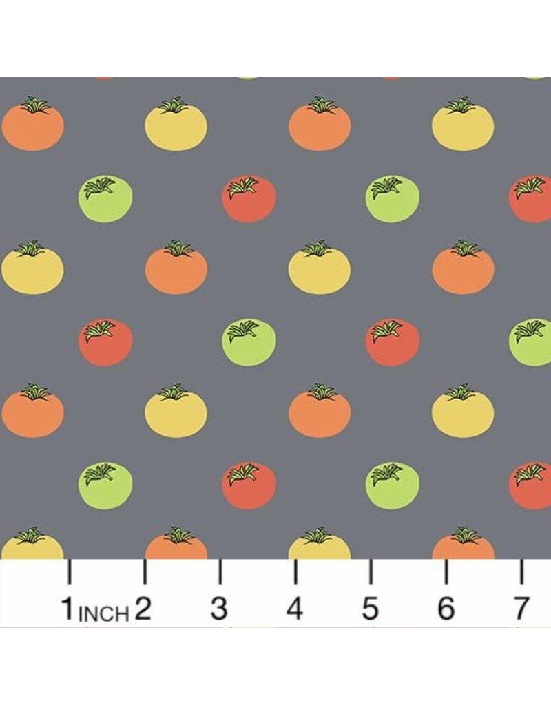 Andover Fabrics Farm to Fabric, Heirloom Tomatoes in Grey, Fabric Half-Yards 9391-C