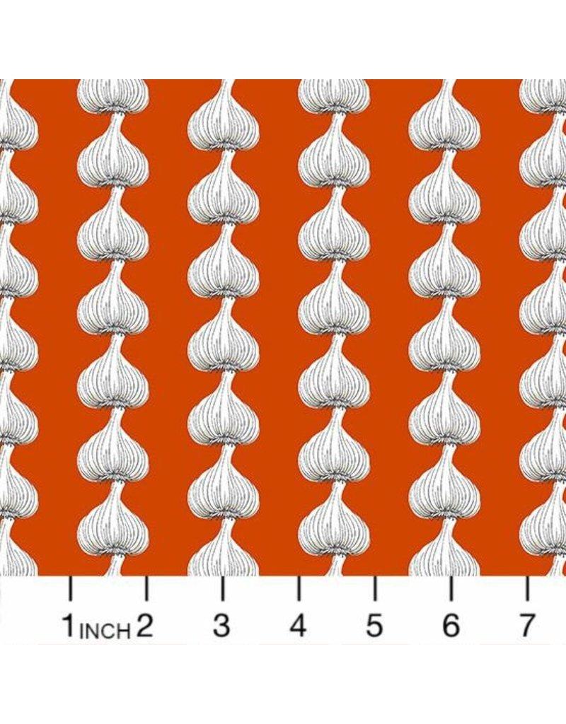 Andover Fabrics Farm to Fabric, Garlic Stripe in Red, Fabric Half-Yards A-9392-O