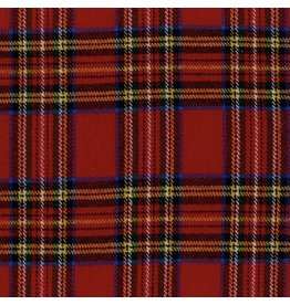 Marcus Fabrics Yarn Dyed Cotton Flannel, Primo Plaid in Royal Stewart, Fabric Half-Yards J373-0111