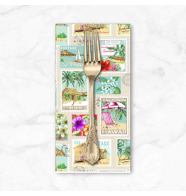 PD's Michael Miller Collection Lost in Paradise, Tropical Getaway in Cream, Dinner Napkin